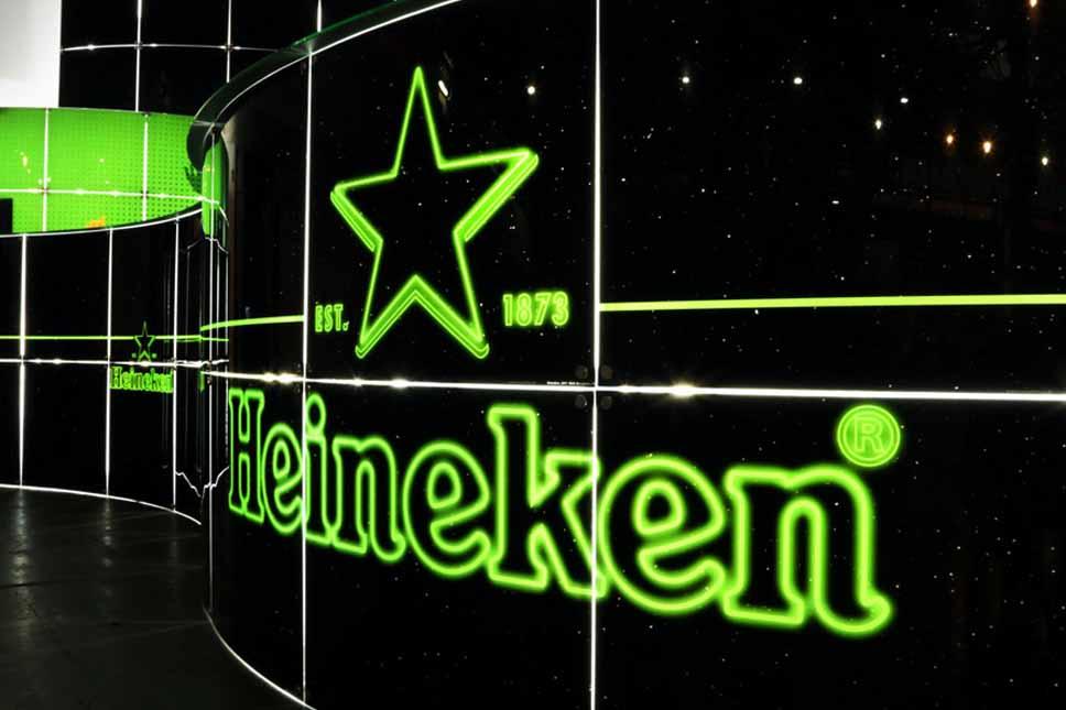 Heineken customized bar