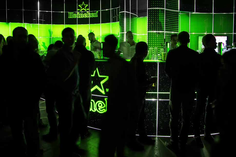 Heineken graphic stand